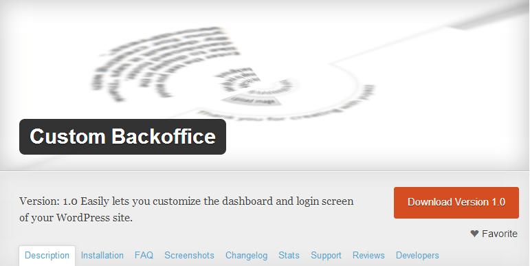 WordPress › Custom Backoffice « WordPress Plugins