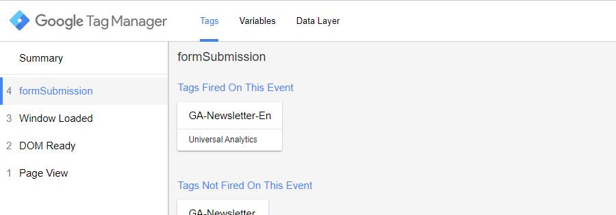 Suivi formulaires avec Google Tag Manager